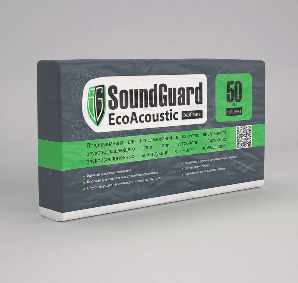 ЭкоПлита SoundGuard EcoAcoustic 25 мм