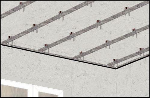 монтаж шумооизоляции потолка комфорт